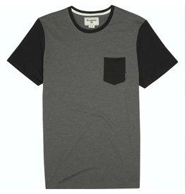 Billabong Billabong Zenith Short Sleeve Crew Tee Pocket Shirt Dark Grey Heather Mens