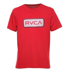 RVCA RVCA Service Tee Red Mens Surfing