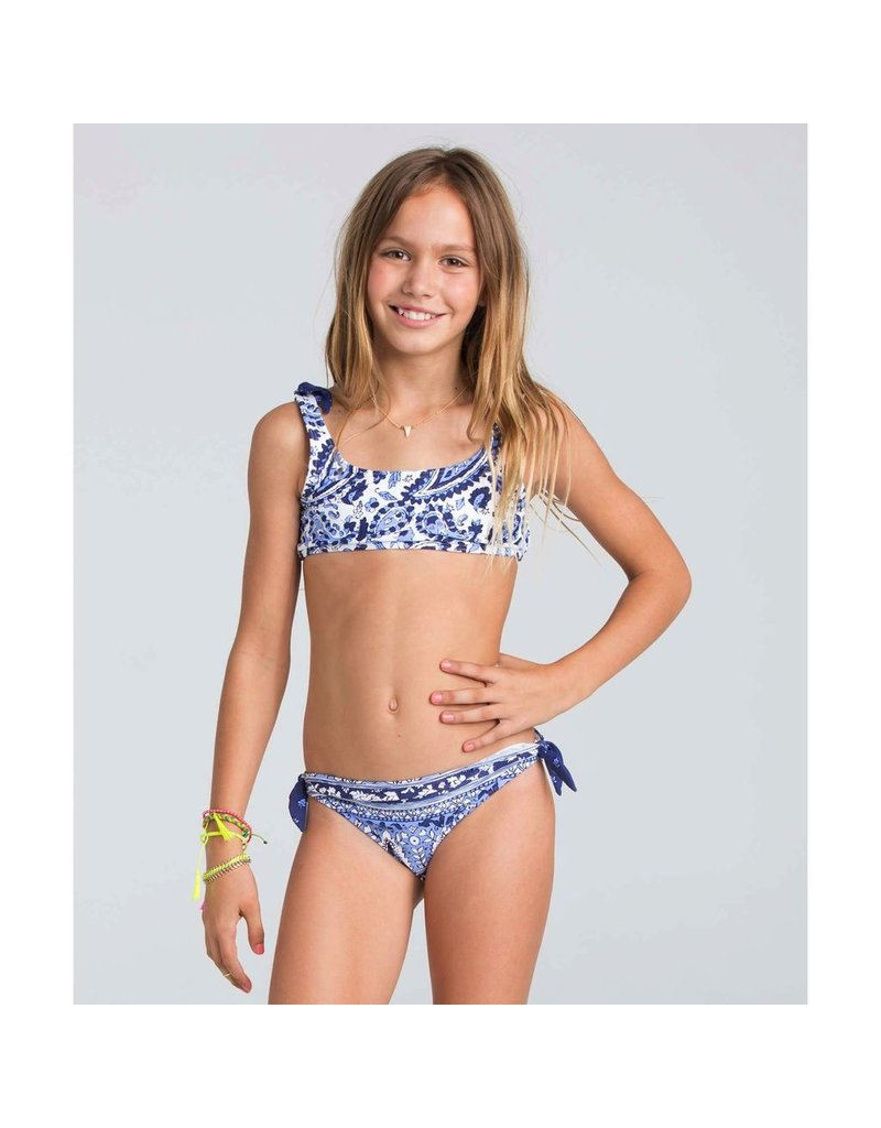 Billabong Billabong Girls Penny Paisley Crop Tank Swimwear Set