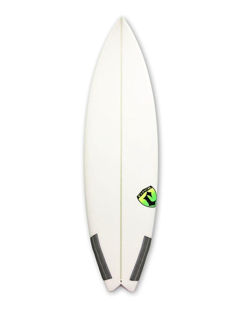Cronin Surfboards Cronin Surfboards 5'9'' Arrow No Stringer Epoxy Carbon Clear 5 Fin FCS II