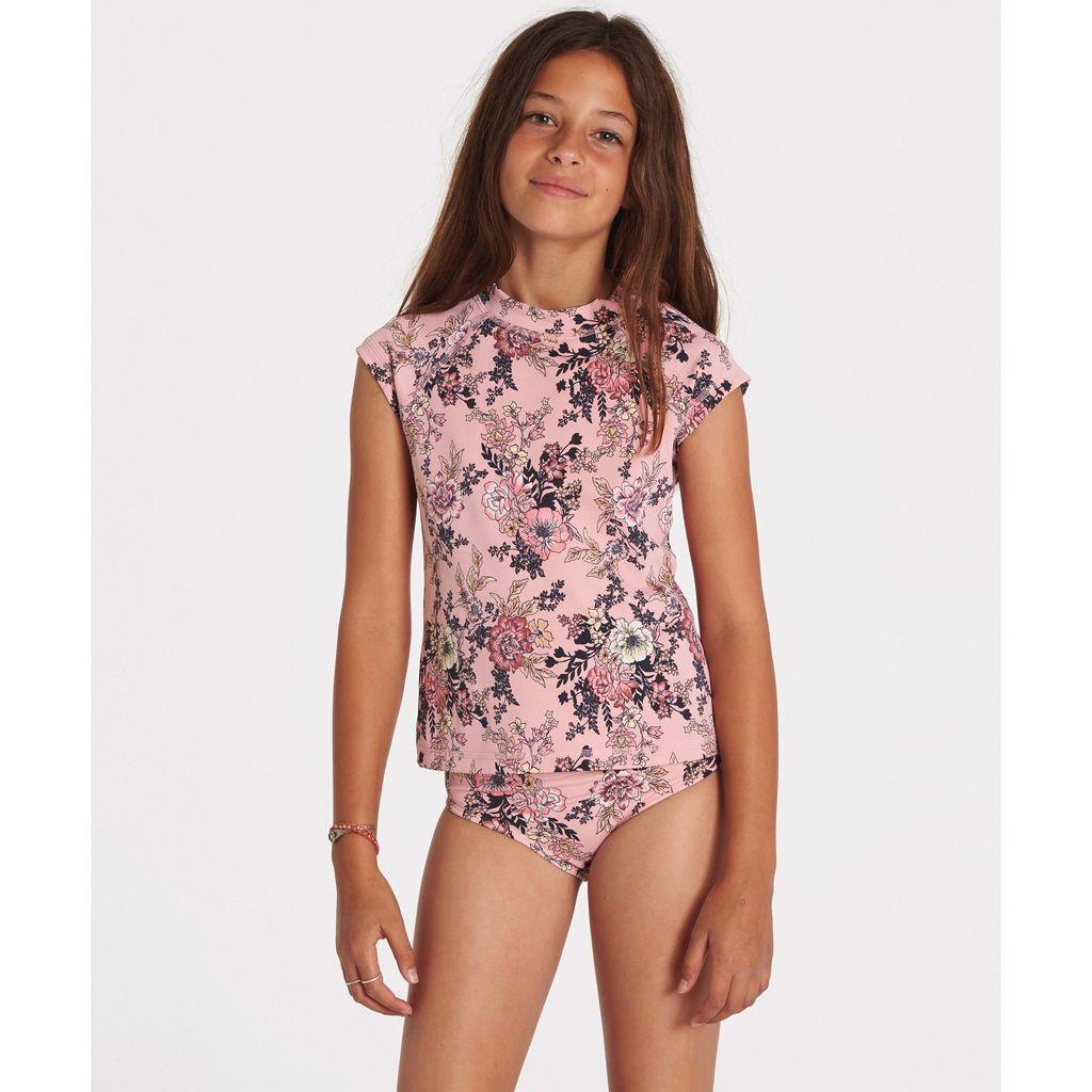 Billabong Billabong Girls Beach Beauty Short Sleeve Rashguard Set