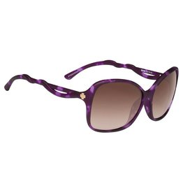 Spy Optic Fiona Soft Matte Purple Tort Bronze Happy Lens Sunglasses