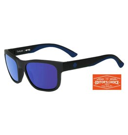 Spy Optic Spy Discord Soft Matte Black Navy Tort Blue Spectra Happy Lens Sunglasses