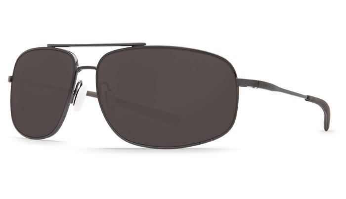 COSTA Costa Del Mar Shipmaster Dark Gunmetal Gray Plastic Sunglasses