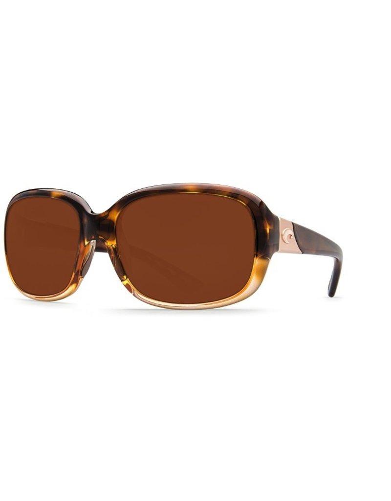 COSTA Costa Del Mar Gannet Shiny Tortoise Fade Copper 580P Sunglasses