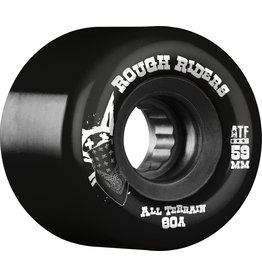 Skate One Bones Rough Riders Black 59mm Skateboard Wheels