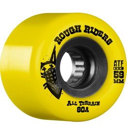 Skate One Bones Rough Riders Yellow 59mm Skateboard Wheels