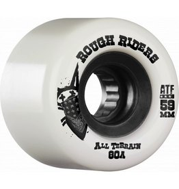 Skate One Bones Rough Riders White 59mm Skateboard Wheels