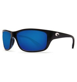 COSTA Costa Del Mar Tasman Sea Shiny Black Blue Mirror 580G Sunglasses