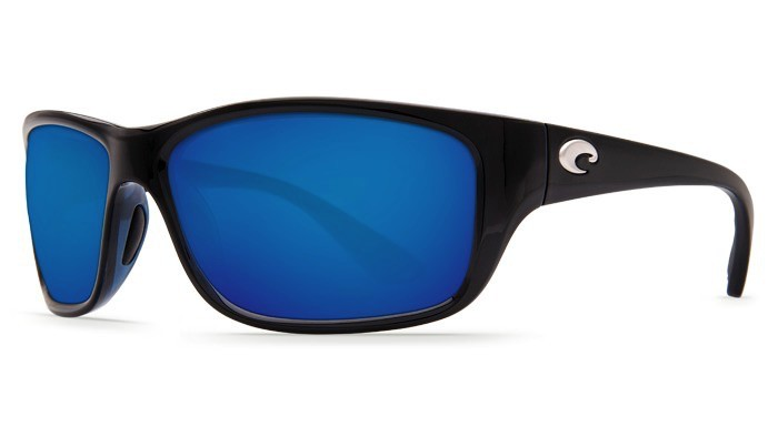 COSTA Costa Del Mar Tasman Sea Shiny Black Blue Mirror 580G Sunglasses