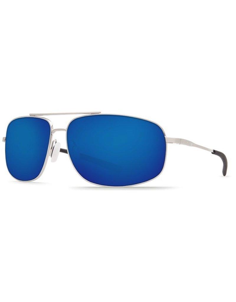 COSTA Costa Del Mar Shipmaster Brushed Palladium Blue Mirror 580P Sunglasses