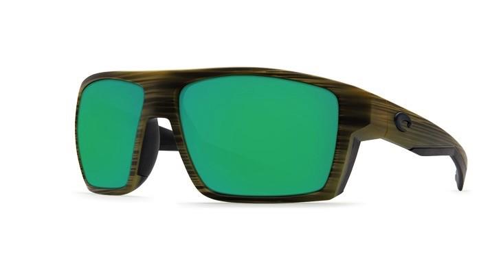 COSTA Costa Bloke Matte Verde Teak Matte Black Green Mirror 580P Sunglasses