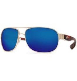 COSTA Costa Del Mar Conch Rose Gold With Light Tortoise Temples Blue Mirror 580P Sunglasses