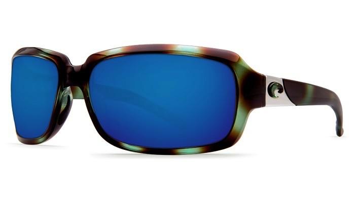 COSTA Costa Del Mar Isabela Shiny Seagrass Blue Mirror 580P Sunglasses