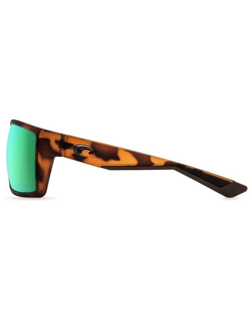 COSTA Costa Del Mar Reefton Matte Retro Tort Green Mirror 580G Sunglasses