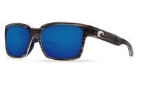 COSTA Costa Del Mar Playa Matte Silver Teak/White/Blue Blue Mirror 580P Sunglasses
