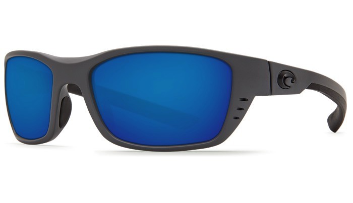 COSTA Costa Del Mar Whitetip Matte Gray Blue Mirror 580G Sunglasses