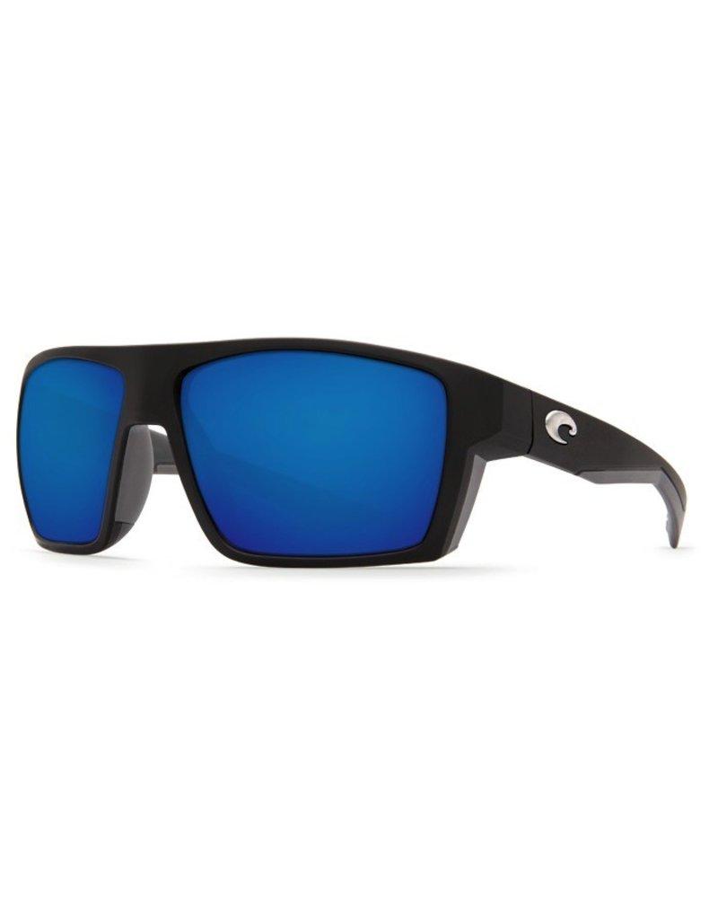COSTA Costa Del Mar Bloke Matte Black Matte Gray Blue Mirror 580P Sunglasses