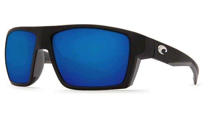 COSTA Costa Del Mar Bloke Matte Black Matte Gray Blue Mirror 580P Sunglasses