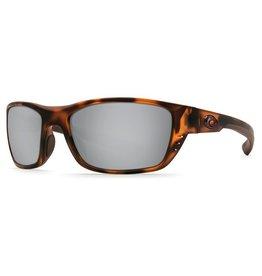 COSTA Costa Del Mar Whitetip Matte Retro Tort Silver Mirror 580P Sunglasses
