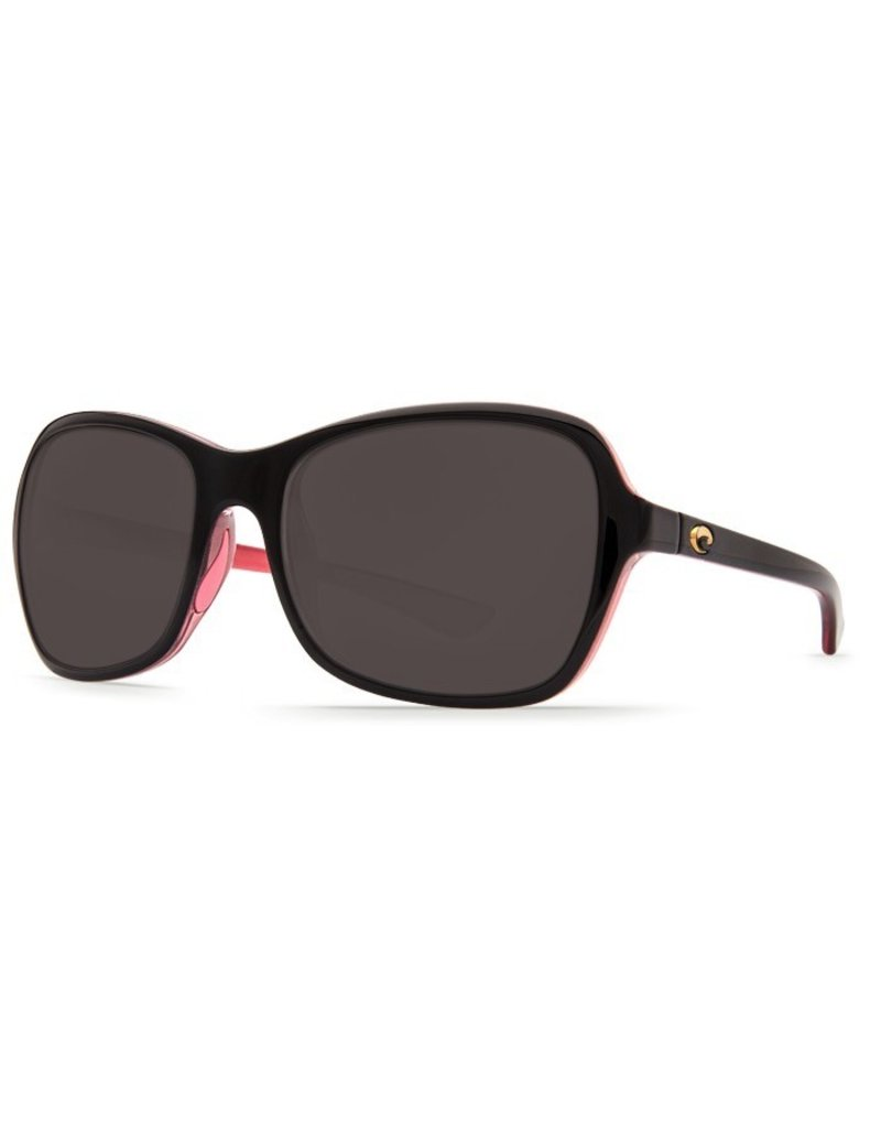COSTA Costa Del Mar Kare Shiny Black Hibiscus Gray 580P SunglassesCosta Del Mar Kare Shiny Black Hibiscus Gray 580P Sunglasses