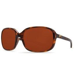 COSTA Costa Del Mar Riverton Shiny Tortoise Copper 580P Sunglasses
