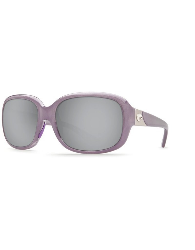 COSTA Costa Del Mar Gannet Shiny Sea Lavender Crystal Silver Mirror 580P Sunglasses