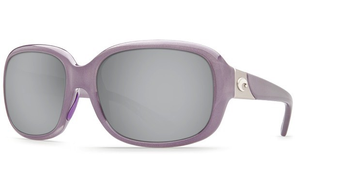COSTA Costa Del Mar Gannet Shiny Sea Lavender Crystal Silver Mirror 580P Sunglasses