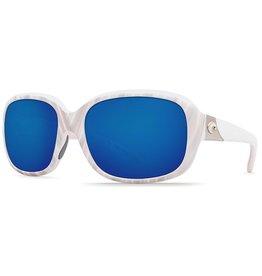 COSTA Costa Del Mar Gannet Matte Seashell Blue Mirror 580P Sunglasses