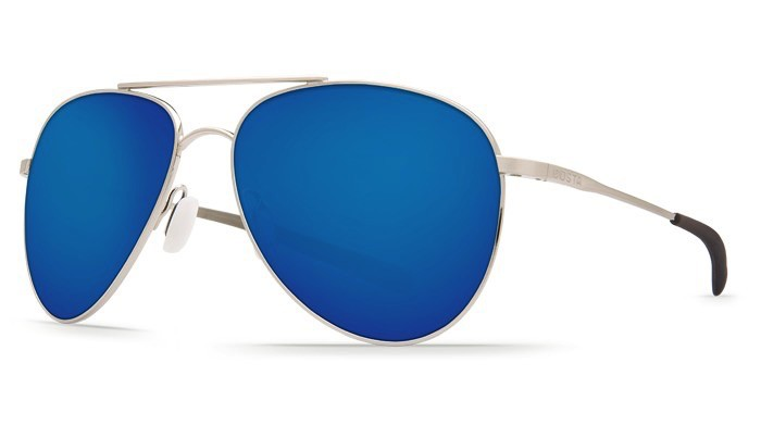 COSTA Costa Del Mar Cook Brushed Palladium Blue Mirror 580P Sunglasses