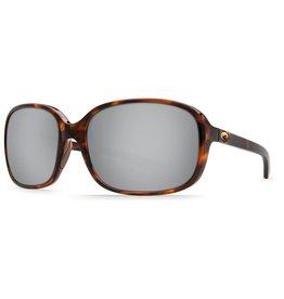 COSTA Costa Del Mar Riverton Shiny Tortoise Silver Mirror 580P Sunglasses