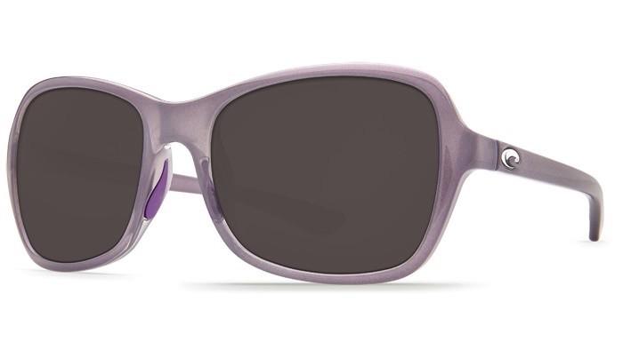 COSTA Costa Del Mar Kare Shiny Sea Lavender Crystal Gray 580P Sunglasses