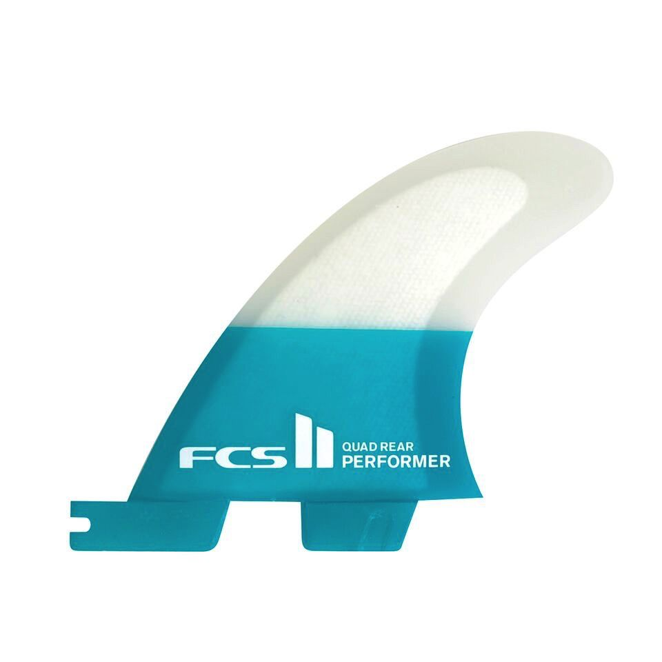 FCS FCS II Performer PC Carbon Quad Rear Teal Medium Surfboard Fins