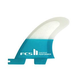 FCS FCS II Performer PC Carbon Quad Rear Teal Small Surfboard Fins
