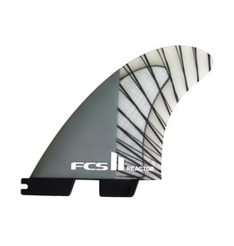 FCS FCS II Reactor PC Carbon Charcoal Medium Thruster Surfboard Fins 2017