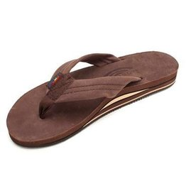 Rainbow Rainbow Sandals Double Layer Premier Leather With Arch Support eXpresso Womens Sandals Size Medium (6.5-7.5)