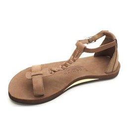 Rainbow Rainbow Sandals Calafia Dark Brown Single Layer With Back Buckle Heel Womens Sandal