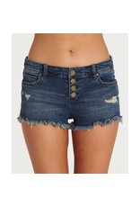 Billabong Billabong Womens Buttoned Up Denim Shorts
