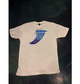 PIT Clothing Pit Surf Shop Fin Logo White