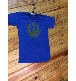 PIT Clothing Pit Surf Shop T-Shirt Heather Royal Fade