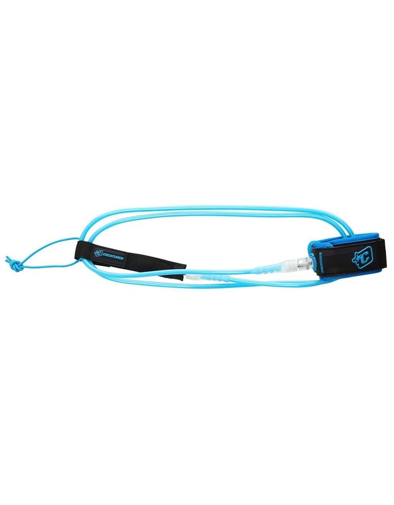 Creatures of Leaisure Creatures of Leisure LIte 5 Cyan Clear Surfboard Leash