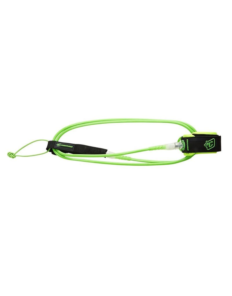 Creatures of Leaisure Creatures of Leisure Lite 5 Surfboard Leash Lime Clear