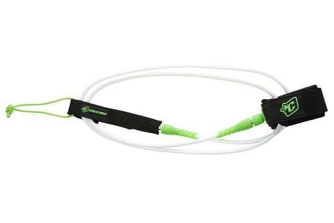 Creatures of Leaisure Creatures of Leisure Lite 5 Surfboard Leash White Lime