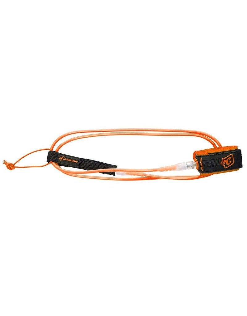 Creatures of Leaisure Creatures of Leisure Lite 6 Surfboard Leash Orange Clear