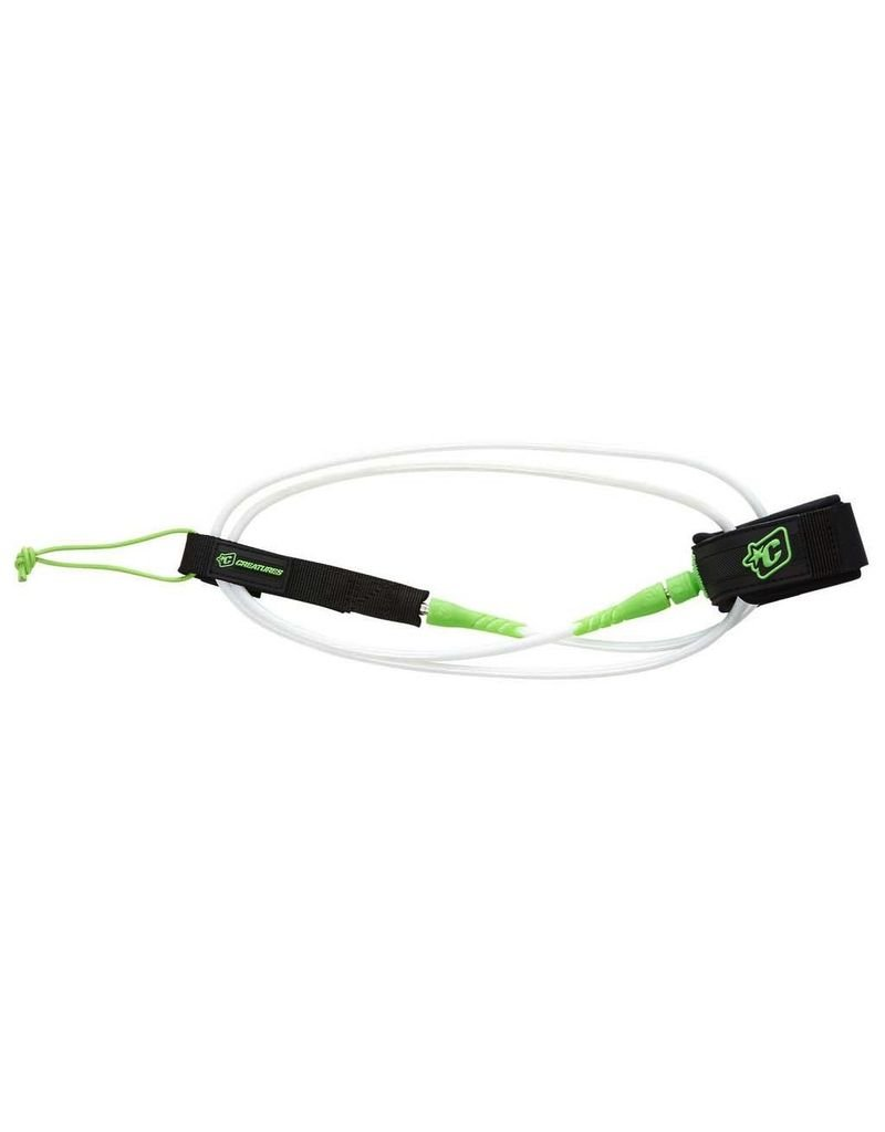 Creatures of Leaisure Creatures of Leisure Pro 6 Surfboard Leash White Lime