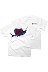 COSTA Costa Del Mar 1983 Sailfish Shirt Short Sleeve Mens White XXL