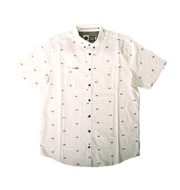 Salty Crew Salty Crew Tuna Dobby Woven Shirt SS White Large Mens