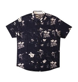 Salty Crew Salty Crew Marlin Woven Shirt SS Navy Large Mens