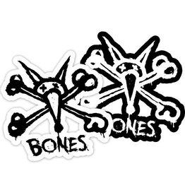 "Skate One BONES WHEELS Stacked 5"" Single Sticker"