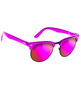 Glassy Sunhaters Glassy Sunhaters MORRISON - TRANSPARENT PINK/BLACK - PINK MIRROR